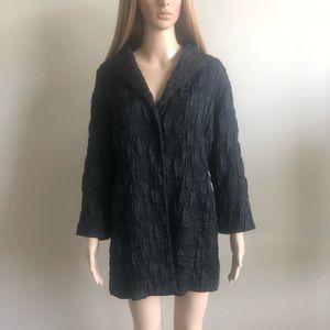 Eileen Fisher Black Textured Jacket 1X EUC